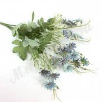 Букет ромашка шебби шик, фиолет с голубым, 40 см