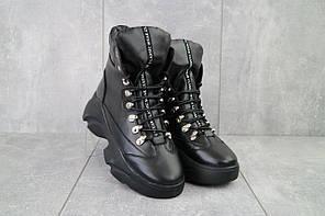 Женские ботинки кожаные зимние черные Viktoria 003. [В наличии: 36,37,38,39,40]