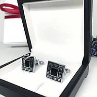 """Запонки """"Инди"""" Premium, серебристые в коробочке с белым бархатом., фото 1"""