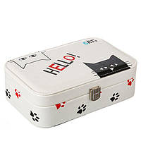 Шкатулка для ювелирных украшений и бижутерии Hello cat 22.5*14.5 см