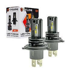 Лампа светодиодная для фар CYCLONE LED H4 5000K 4600LM TYPE 33 2 шт комплект