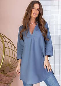 Женская удлиненная блуза свободного фасона