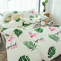 Комплект постельного белья Тропический лес (двуспальный-евро) Berni