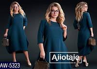 Женское платье полуприталенное в стиле бохо, размеры 46-48, 50-52, 54-56, 58-60