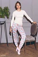 Нежная, теплая женская пижама XS S M L, фото 1
