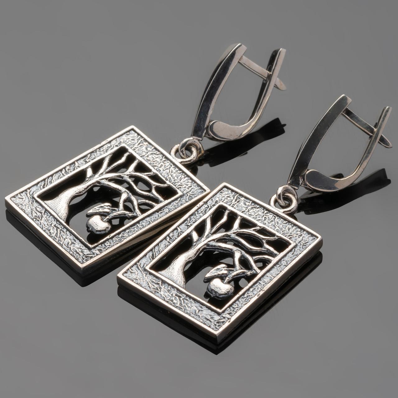 Серебряные серьги 925 пробы  арт. 497с