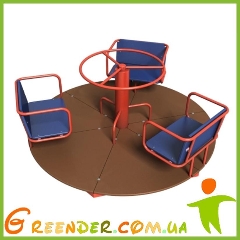 Карусель для детской площадки со штурвалом Покрути Ка