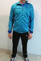 Мужской спортивный костюм  Adidas 03686 голубой с синим  код 305б
