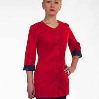 Женский костюм в медицинском стиле  коттон  много цветов от 42-60р красный/синий
