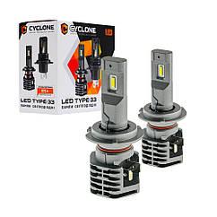 Лампа светодиодная для фар CYCLONE LED H7 5000K 4600LM  TYPE 33 2 шт комплект