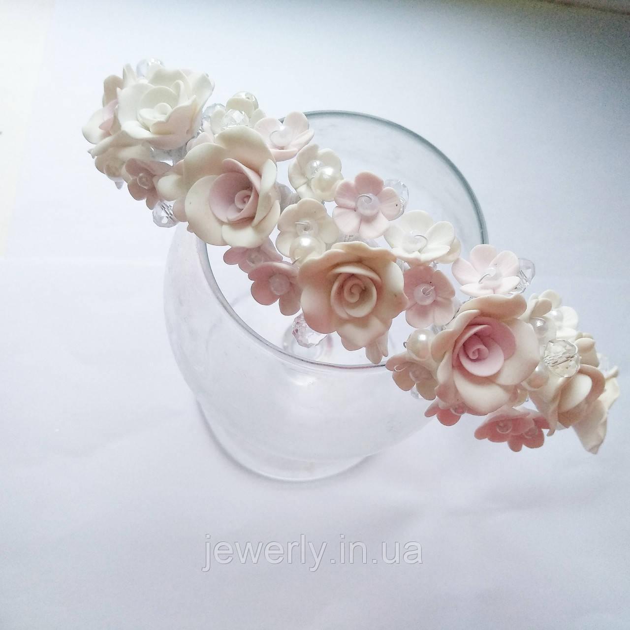 Свадебный обруч с розами