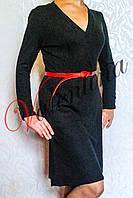 Платье из кашемира, отрезное по линии талии
