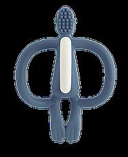 Игрушка-прорезыватель Matchstick Monkey (цвет темно синий, 10,5 см) (MM-T-011), фото 3