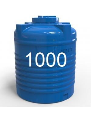 Емкость пластиковая для воды двухслойная вертикальная 1000 литров.
