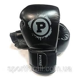 Боксерские перчатки Раунд Training  12 ун (черные)