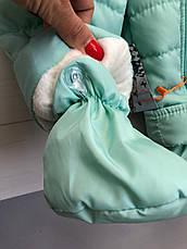Детский демисезонный комбинезон - 68 размер (0-6 мес), 74 размер (6-12 мес) /  весенний комбинезон от 0 до 12, фото 2