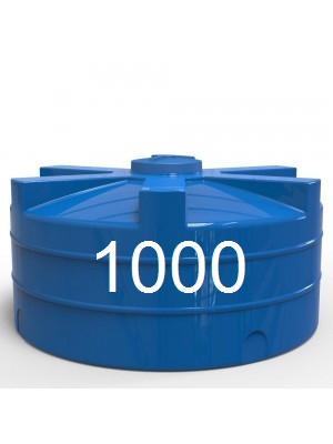 Емкость для воды пластиковая вертикальная двухслойная ч объем 1000 литров.