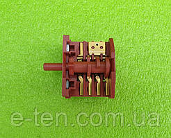 Переключатель мощности пятипозиционный RS4 boltek / 16А / 250V /Т125 (контакты 4+3) для духовок, обогревателей