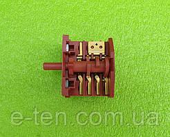 Перемикач потужності п'ятипозиційний RS4 boltek / 16А / 250V /Т125 (контакти 4+3) для духовок, обігрівачів
