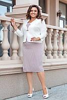 Женский элегантный костюм платье+пиджакот50-до56р.(5расцв)