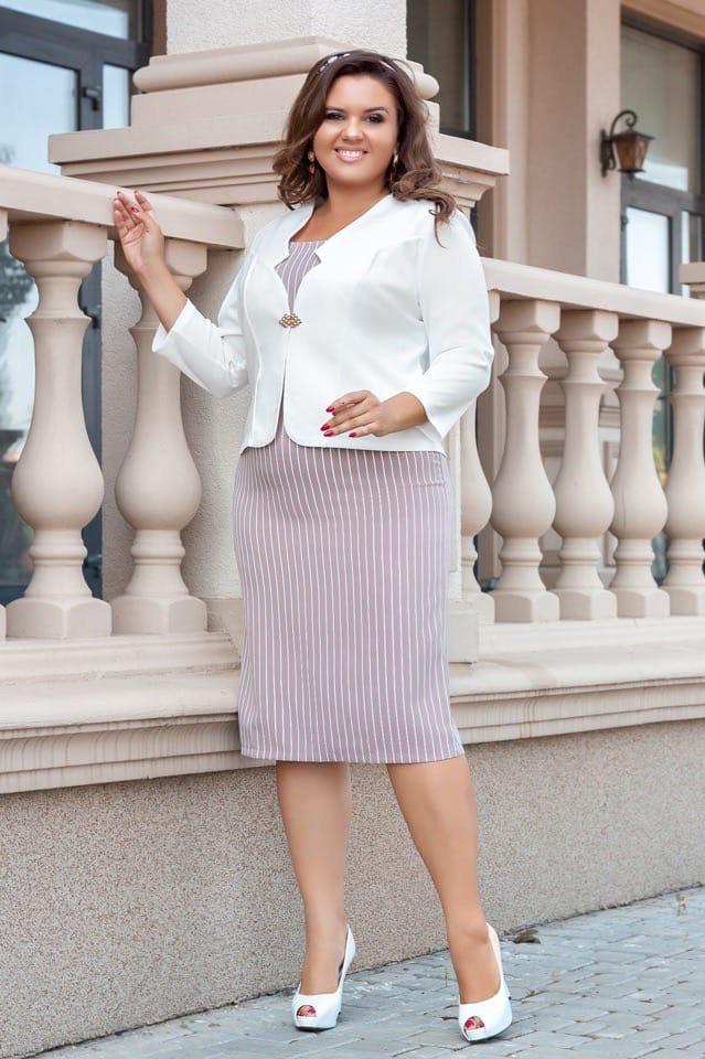 Женский элегантный костюм платье+пиджак от50-до56р.(5расцв)