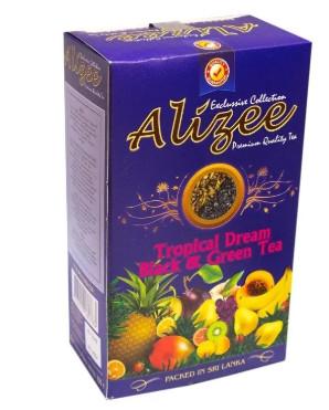 Суміш зеленого та чорного чаю Алізе Тропічна мрія з манго і ананасом 100 грам