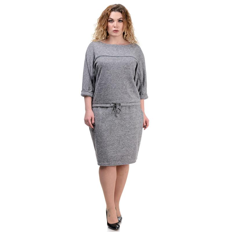 Стильное платье MaxLine ангора-софт серое