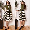 Платье офисное юбка в клетку французский трикотаж 42-44,44-46, фото 3
