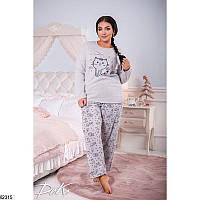 Женская  пижама на флисе батал