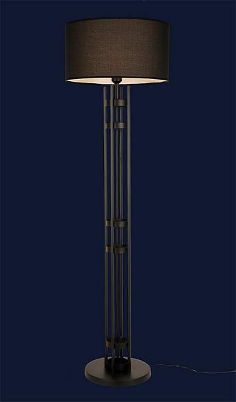 Стильный торшер с абажуром 918F8322-1 BK