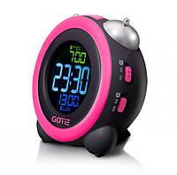 Электронно-механический будильник GOTIE GBE-300R