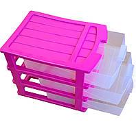 Комод для бумаги пластиковый Heidrun Desktop 34*25*23,5см (GS-1515)