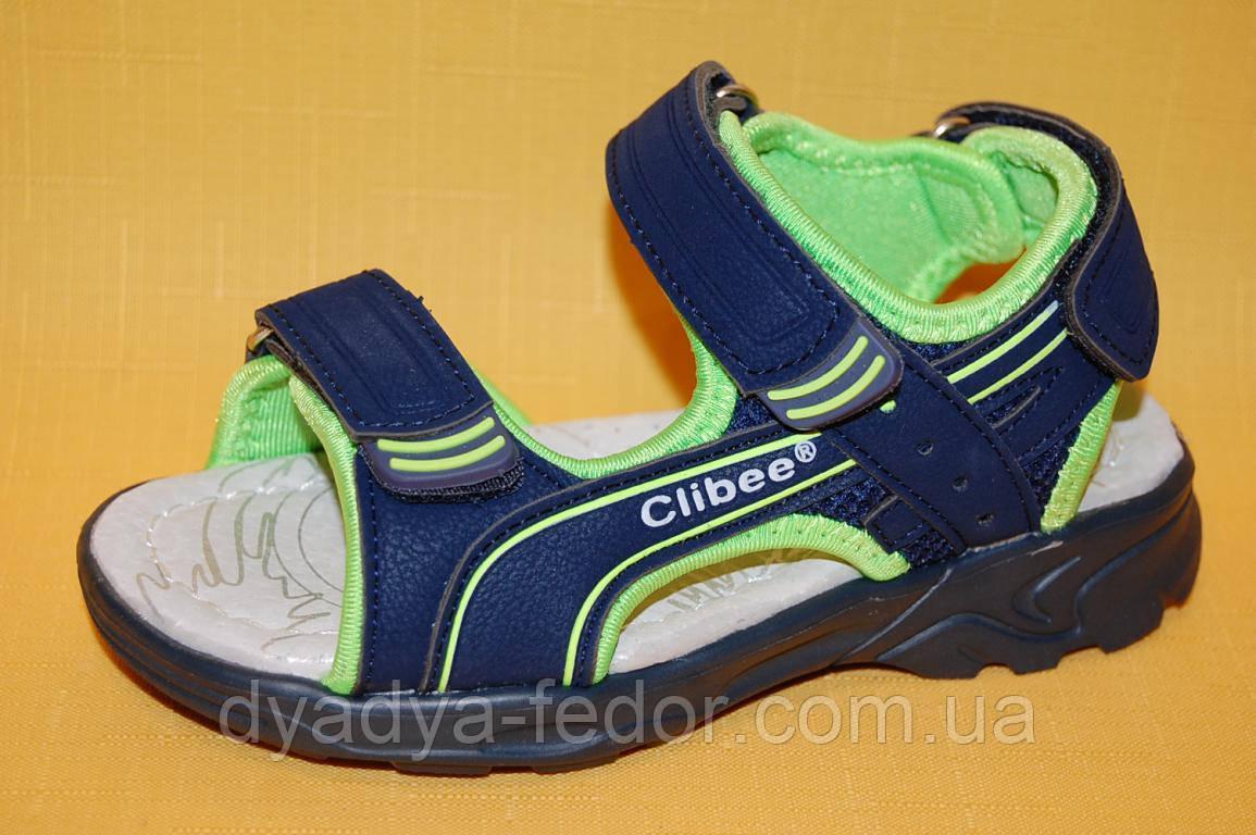 Детские босоножки Clibee Польша z511 для мальчиков синий размеры 26_31