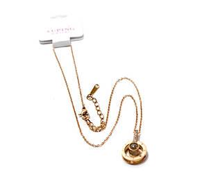 Золотые подвески, цепочка с кулоном, (Золото), подарок на день влюбленных, кулон с цепочкой Подарок на 14 февр, фото 2