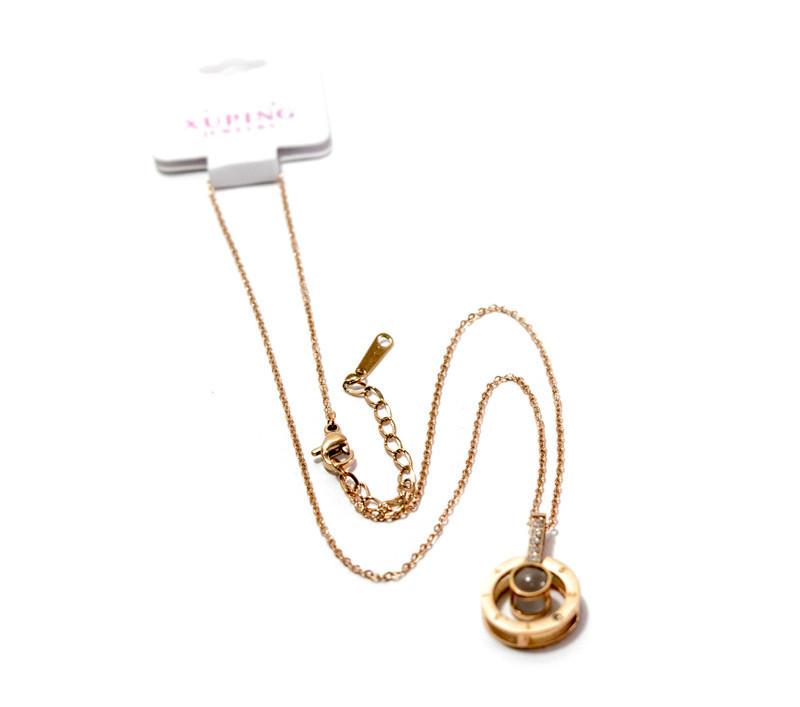 Золотые подвески, цепочка с кулоном, (Золото), подарок на день влюбленных, кулон с цепочкой Подарок на 14 февр