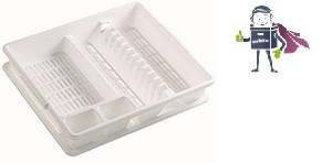 Сушилка для посуды с поддоном Heidrun Kitchen Mix 47*39*10,5см (HDR-2209)