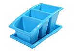 Лоток для столових приладів з піддоном Heidrun Kitchen Mix 22*14*11,5 см (HDR-2213), фото 3