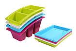 Лоток для столових приладів з піддоном Heidrun Kitchen Mix 22*14*11,5 см (HDR-2213), фото 6