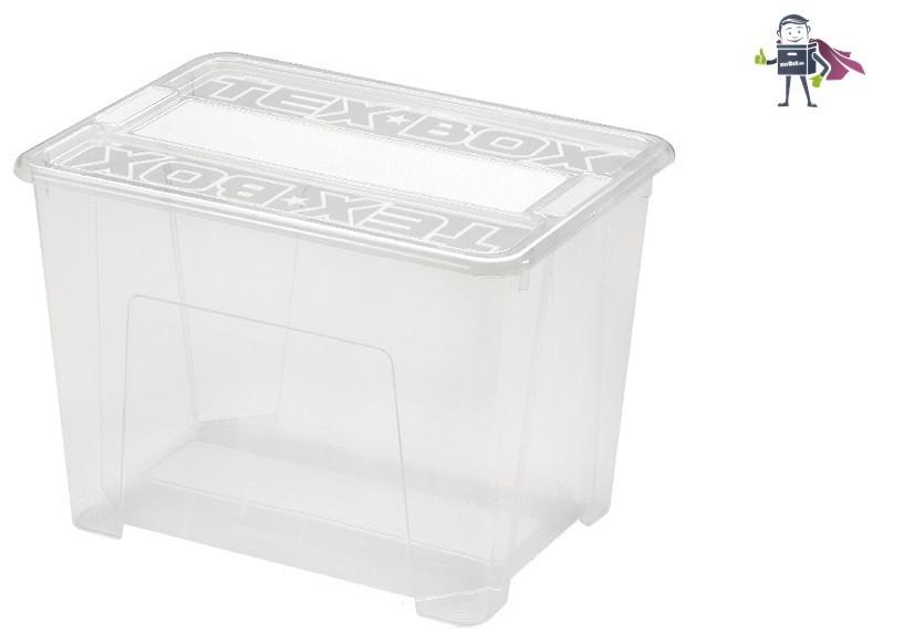 Ящик пластиковый прозрачный 25л, Heidrun TexBOX 8, 25л, 38*28*27см (HDR-7205)
