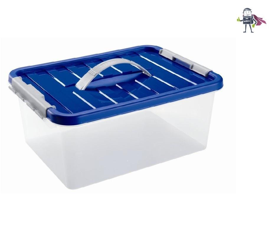 Ящик пластиковый с ручкой 5л Heidrun ClipBOX, 29*19*14см (IG-1631)
