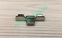 Магнитный переходник на кабель MicroUSB, Type-C, Lightning Iphone универсальный для зарядки от 20 штук