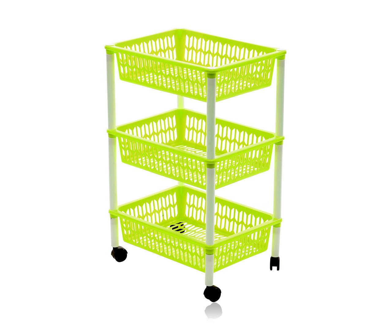 Этажерка трехъярусная Heidrun Baskets, 40*30*66см (К-1563)