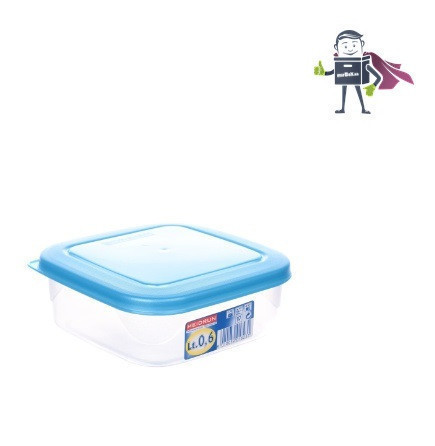 Контейнер для хранения 0,6л, Heidrun FoodKeepers 13,5*13,5*5,5см (К-1823)