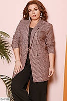 Стильный деловой пиджак в клетку размеры 48-58 арт 751
