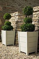 Вазон деревянный садовый для цветов