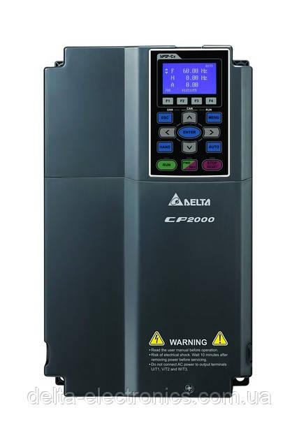 Перетворювач частоти Delta Electronics, 2,2 кВт,400В,3ф.,векторний, c ПЛК, VFD022CP43A-21