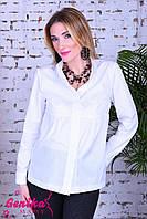Рубашка для беременных и кормящих мам, тон белый M