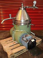 Б/у дисковый сепаратор WESTFALIA модель TA 14-06-506 плотность 1.2 кг/дм3.