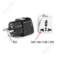 Переходник с US UK AU на EU вилку, универсальный адаптер для розетки