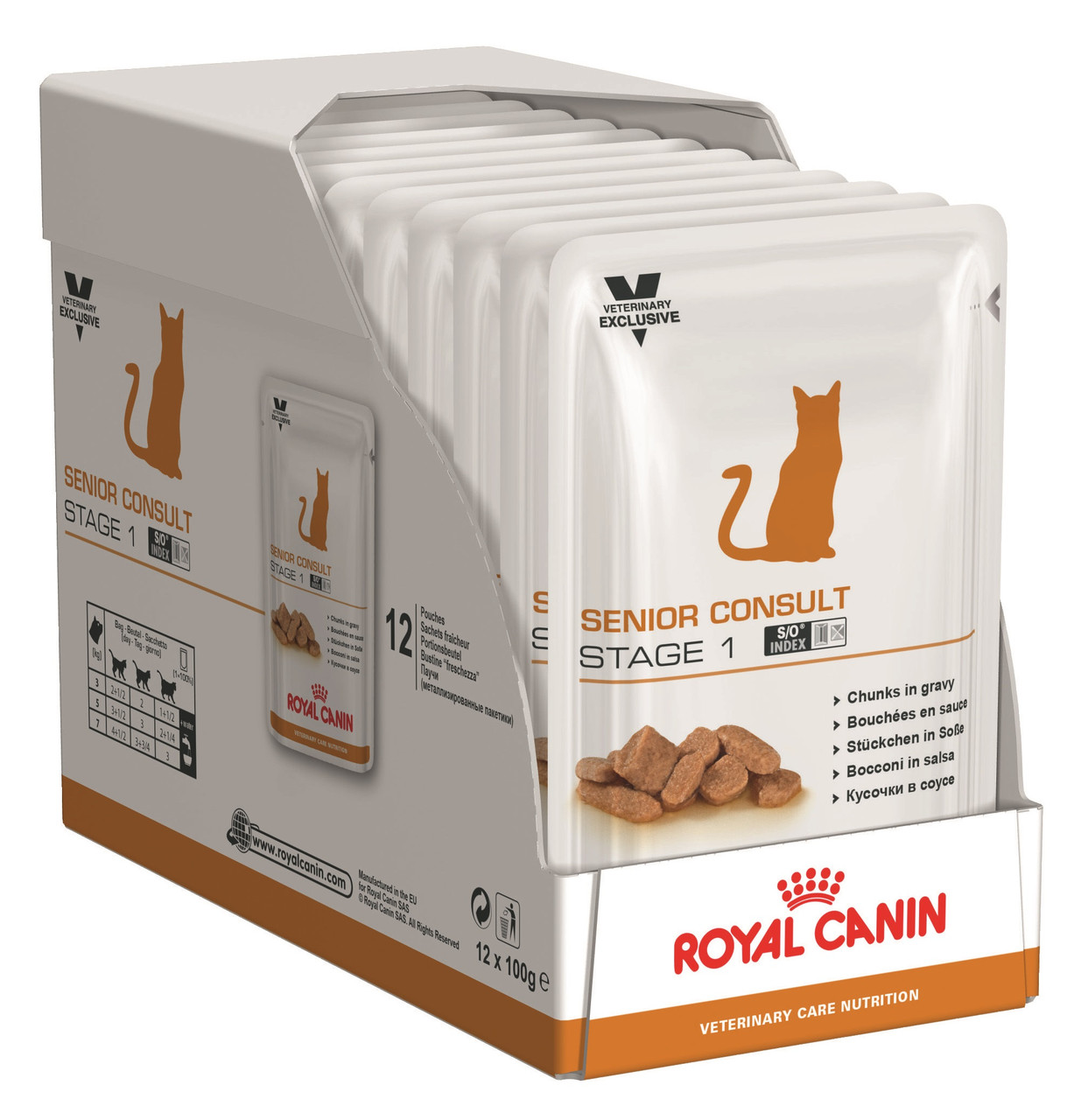 Вологий корм Royal Canin Senior Consult Stage 1 для кішок старше 7 років блок 100 г*12 шт.